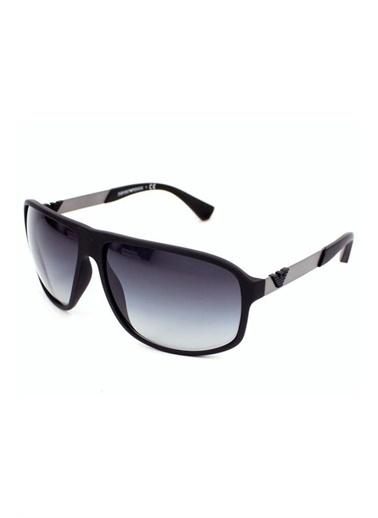 Emporio Armani 0Ea4029 64 Kare Çerçeve Cam Erkek Güneş Gözlük Siyah